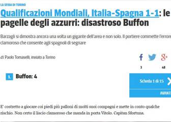 Italia clama contra Buffon: así refleja la prensa su fallo