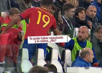 Reina abroncó a Diego Costa al haberse jugado la expulsión