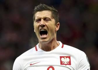 Lewandowski hace un hat-trick y da el primer triunfo a Polonia