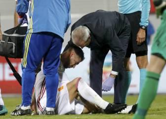 Ramos tiene dañado el ligamento lateral: al menos un mes de baja
