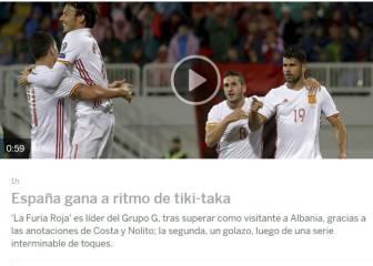 La prensa mundial destaca el liderato y el tiki-taka de España