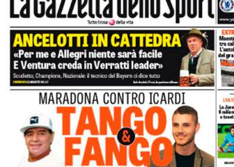 En Italia alucinan con la guerra entre Maradona e Icardi