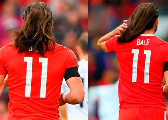 Bale lets his hair down for Wales