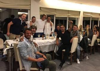 Coentrao ya ha aparecido... con sus amigos en Portugal