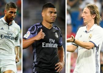 Problemas para Zidane: más de un mes sin tres jugadores clave