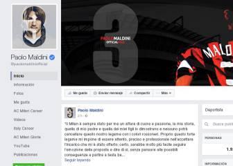 Maldini utiliza las redes para rechazar una oferta del Milán