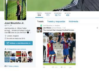 El hijo de Mourinho vuelve a demostrar admiración por Messi