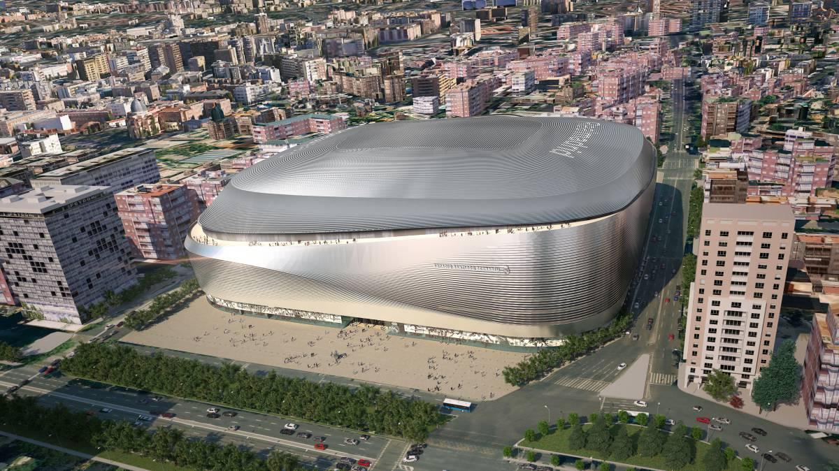 Hé lộ hình ảnh SVĐ mới rực rỡ của Real Madrid