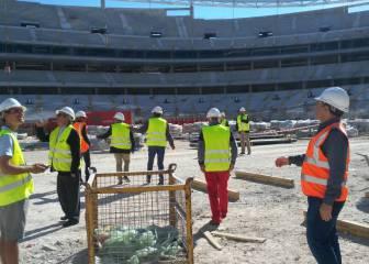 Los veteranos del Atlético ya conocen el nuevo estadio