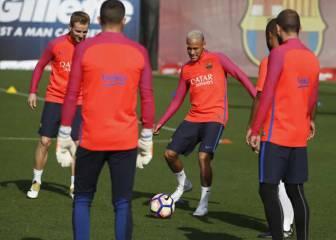 Neymar se une a Messi y Umtiti en la sesión azulgrana