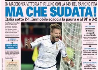 Preocupación en Italia por la fragilidad defensiva del equipo
