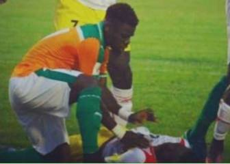 Quick-acting Aurier saves Moussa Doumbia's life