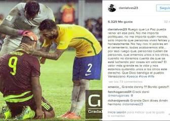 Dani Alves muestra su lado más solidario con Venezuela