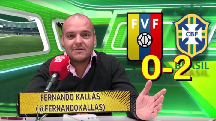 Vídeo: análisis del Venezuela 0-2 Brasil en las eliminatorias