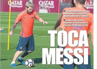 Messi, siempre estrella en la prensa de Barcelona