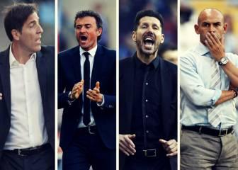¿Qué entrenador ha usado más jugadores titulares esta Liga?