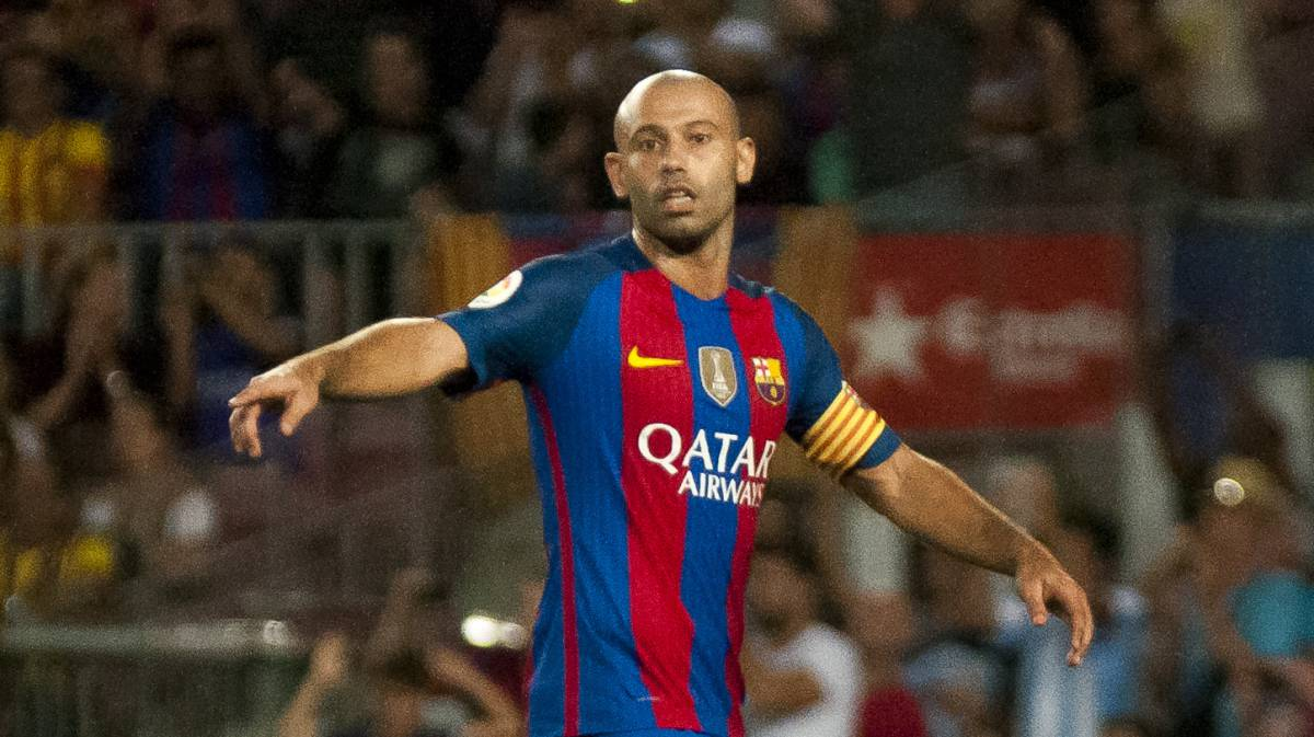 Image result for Barcelona confirm Mascherano contract extension