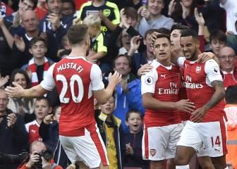 El Arsenal gana con diez y se sitúa colíder de la Premier