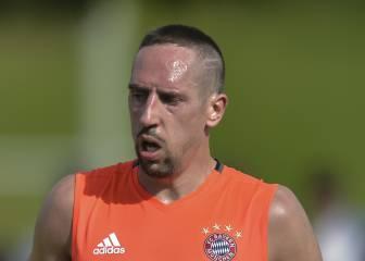 Ribéry será baja tres semanas por problemas musculares