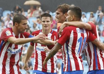 Simeone, al ataque con Correa, Carrasco, Gameiro y Griezmann