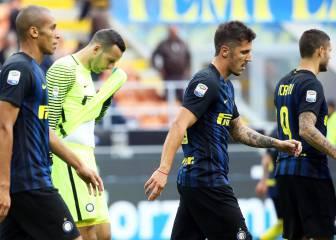 San Siro estalla contra el Inter tras la derrota ante el Cagliari
