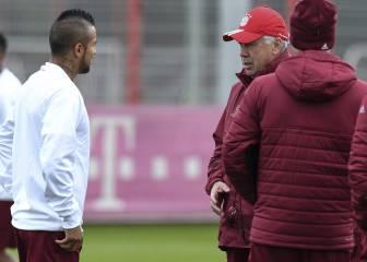 Ancelotti recupera a Costa y cuenta con Xabi ante la crisis
