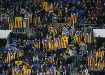 Se avecina lío: el Camp Nou, lleno de esteladas ante el City