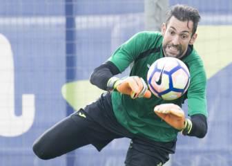 Diego López echa el cerrojo a la angustia en el Espanyol