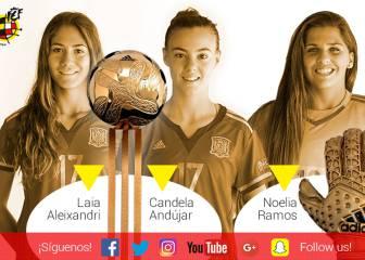 Tres españolas aspiran al Balón y Guante de Oro del Mundial