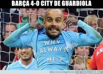 Los memes más divertidos de la derrota de Guardiola ante el Barcelona