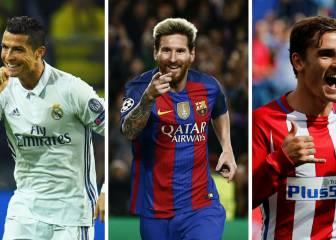 Messi, en carrera con Cristiano y Griezmann por el Balón de Oro