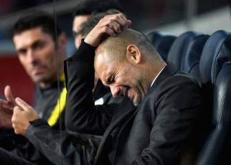 Guardiola como visitante en España: pleno de derrotas