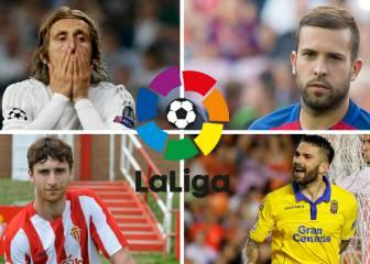 Lesionados y sancionados de la jornada 9 de la Liga Santander