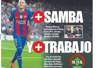 Portadas Cataluña: Neymar para largo en el Barcelona