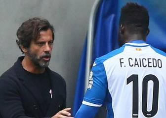 Quique se encaró con Caicedo, expulsado: duró 10 minutos