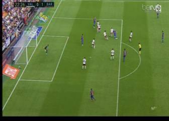 El Valencia pidió fuera de juego en el 0-1, penalti de Umtiti a Rodrigo y la roja para Busquets