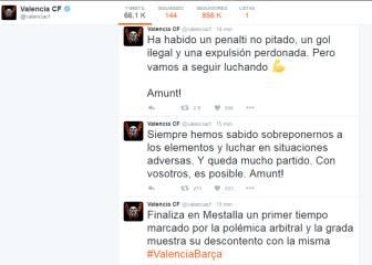 El Valencia carga en su Twitter contra Undiano Mallenco