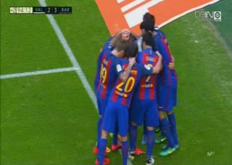 Botellazo a Neymar en la celebración del último gol