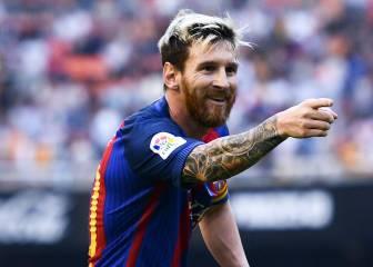 1x1 del Barça: Messi, magia liderazgo y pulso en Mestalla