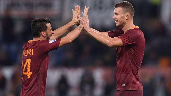 El Roma golea y acecha a la Juve