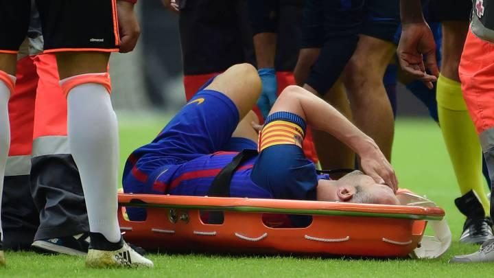 """Iniesta temió más gravedad: """"Podía haber sido mucho peor...""""."""