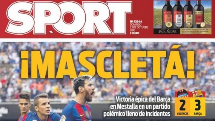 Mascletá en Valencia: euforia en la prensa de Barcelona