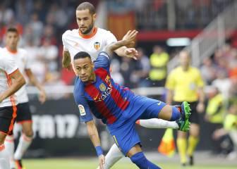 Neymar es el jugador que más faltas recibe de la Liga (35)