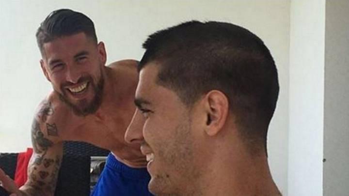 Ramos regalará otro corte de pelo a Morata por su gol
