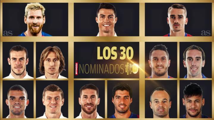 Lista de los 30 nominados para el Balón de Oro 2016 France Football