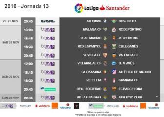 R. Madrid-Sporting, el sábado 26; Barça y Atlético, al domingo