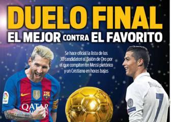 """""""El mejor contra el favorito"""": la prensa catalana 'tuerce' por Leo"""