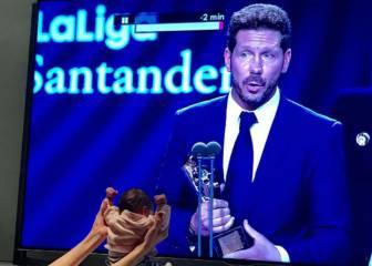 Así celebró Francesca Simeone el premio LaLiga de su padre