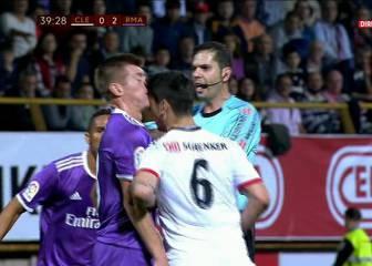 Yeray debió ser expulsado por un cabezazo a Kroos en el 32'