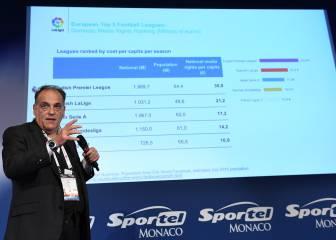 """Javier Tebas: """"La Liga Europea es un plan de barra de bar"""""""